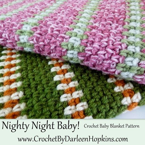 Nighty Night Crochet Pattern Baby Blanket INSTANT pdf DOWNLOAD use ...