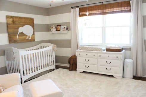 Grey and White Stripes   20 Stylish Gender-Neutral Nurseries