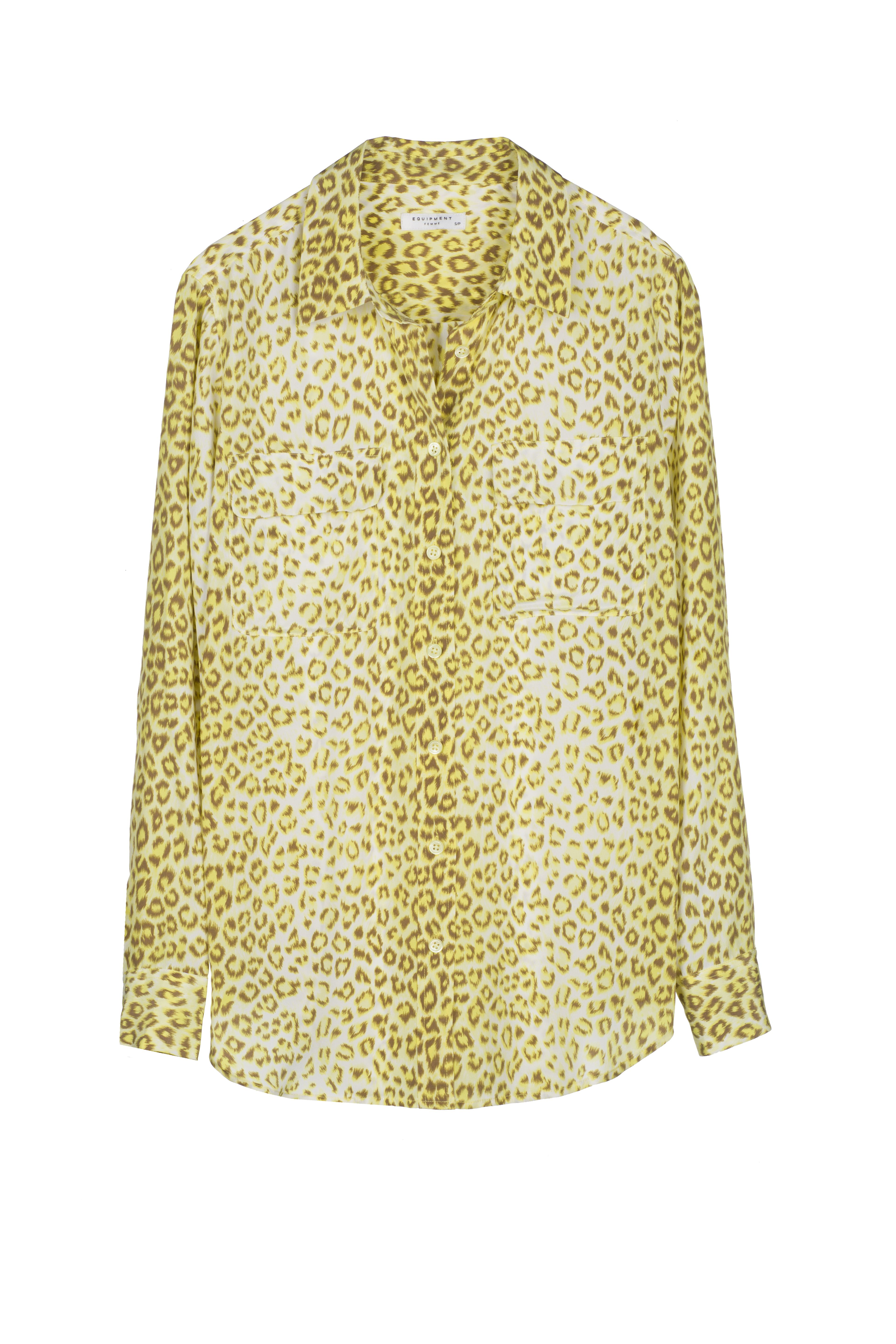 3e04751e79be The Equipment Slim Signature Shirt in a classic leopard print with a  warm-toned twist.