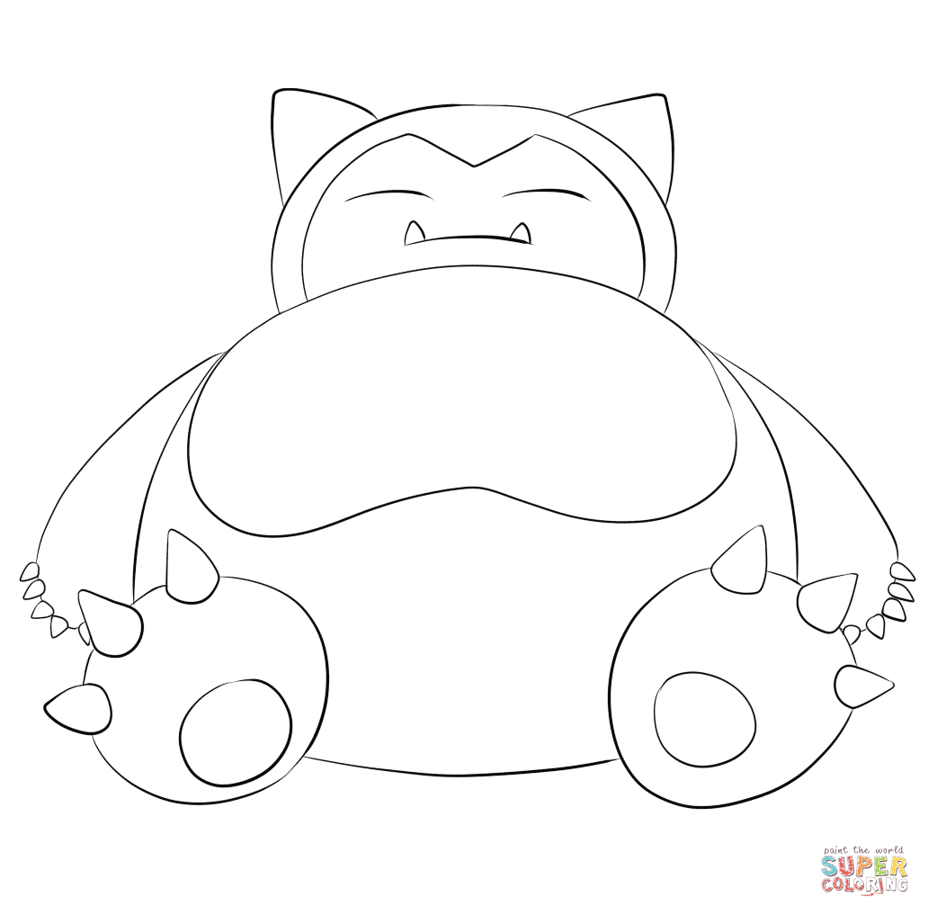 Snorlax Super Coloring Pokémon Go Pokemon Coloringpokemon