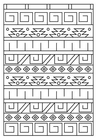 Inca Pattern Coloring Page Pattern Coloring Pages Peruvian Art