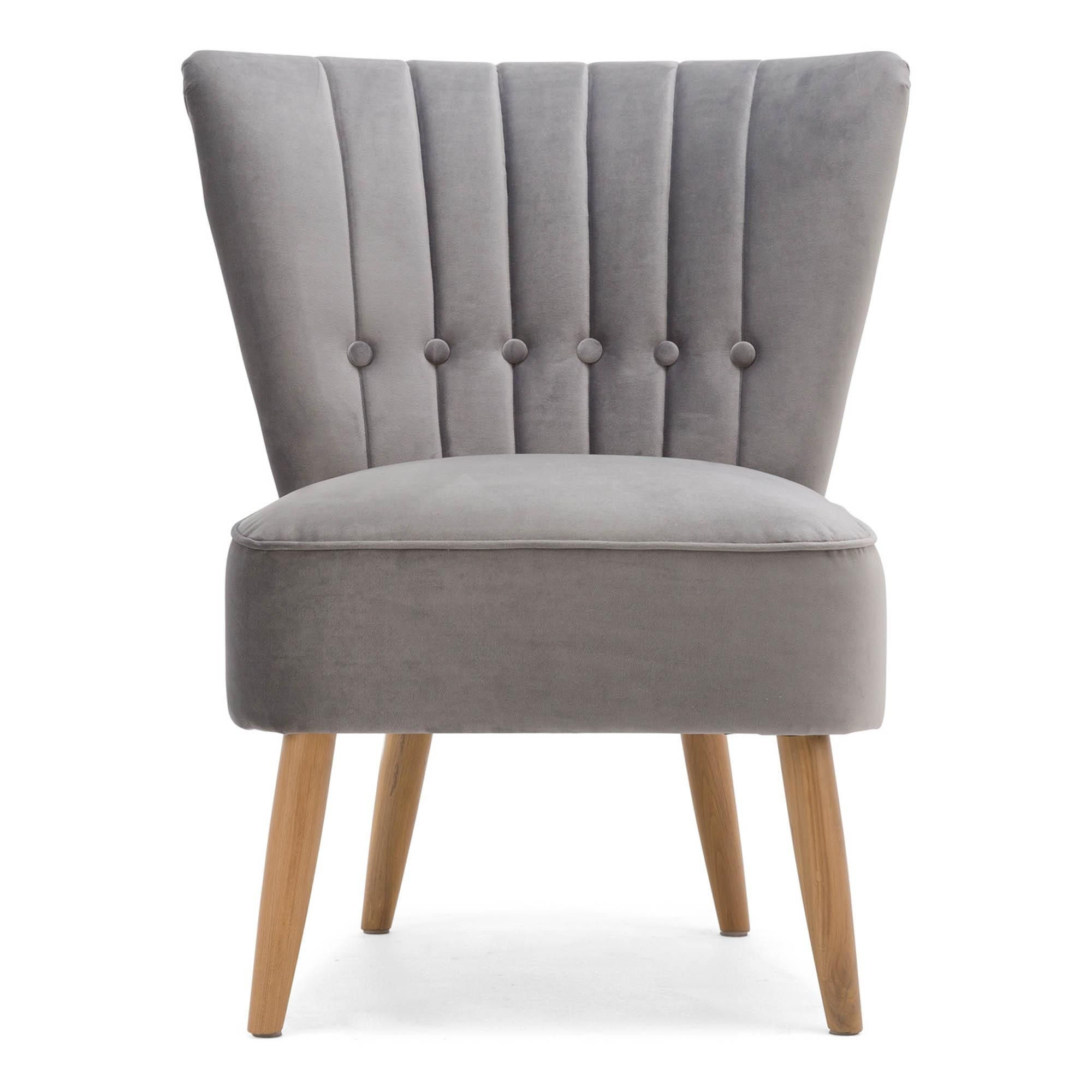 Isla velvet cocktail chair light grey in 2020 cocktail