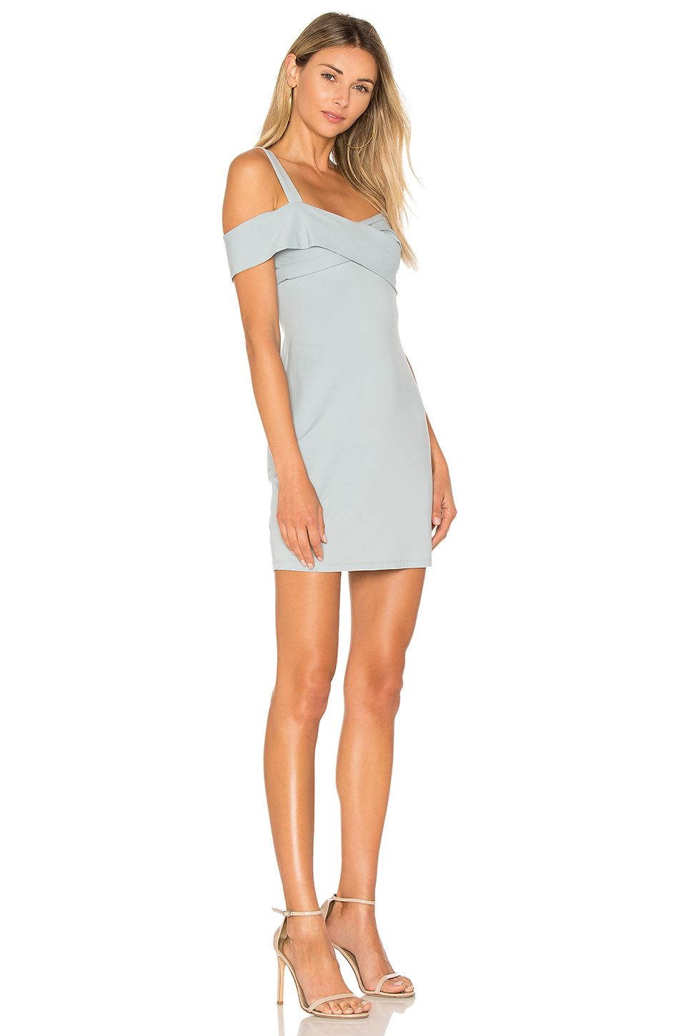 d0772a137dd2 by the way. Evie Cold Shoulder Mini Dress in Light Blue | REVOLVE ...