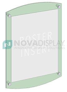 Use Our Standoff Supports To Wall Mount Acrylic Poster Frames