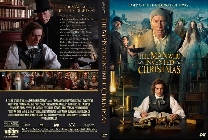The Man Who Invented Christmas Dvd.The Man Who Invented Christmas 2017 Dvd Custom Cover
