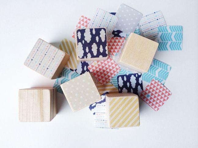 Adhesive Washi Sheet Nursery Name Blocks