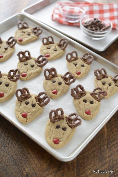 easy peanut butter rudolph cookies   NoBiggie.net