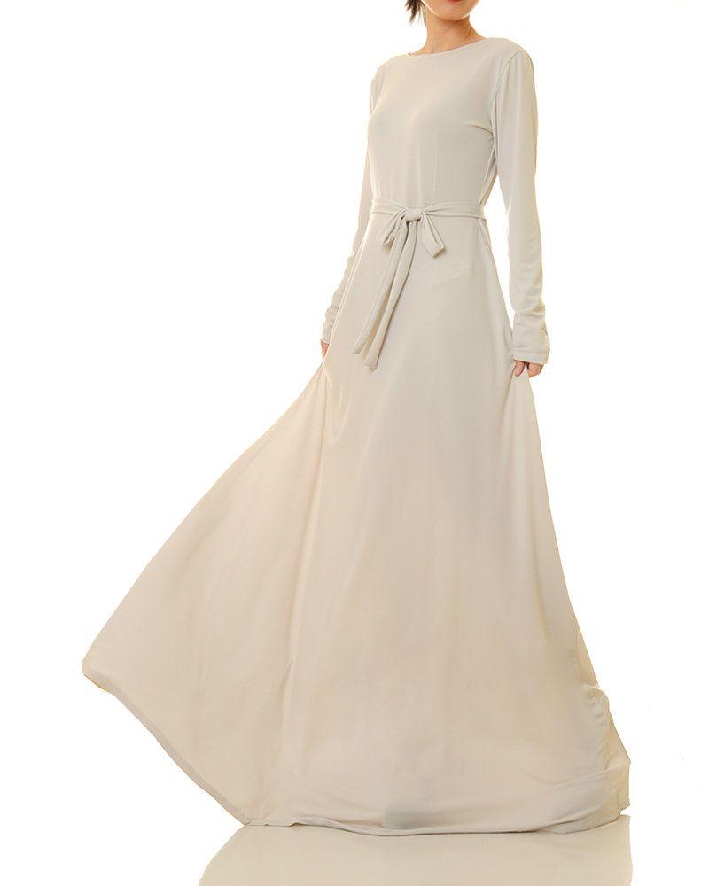 7459e3c47b31 Peach Maxi Dress   Peach Bridesmaid Dress   Long Blush Dress   Abaya Maxi  Dress   Long Sleeves Maxi Dress   Boho Wedding Guest Dress 6437