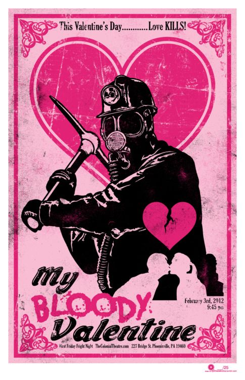 My Bloody Valentine 1981 Film Screening Event Poster By Qfs Chris