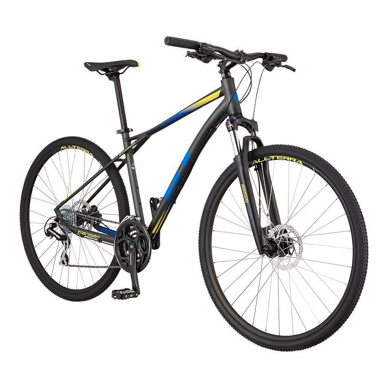 Gt Transeo Elite 700c Men S Hybrid Bike 2019 Gunmetal 29er