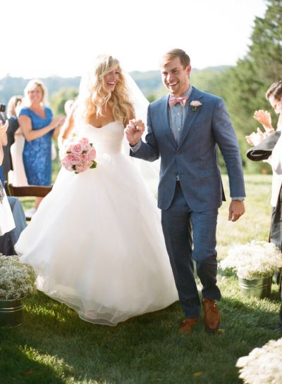 Joyous moment: http://www.stylemepretty.com/2015/06/01/romantic-rustic-chic-farm-wedding-in-virginia/ | Photography: Gabe Aceves - http://gabeaceves.com/