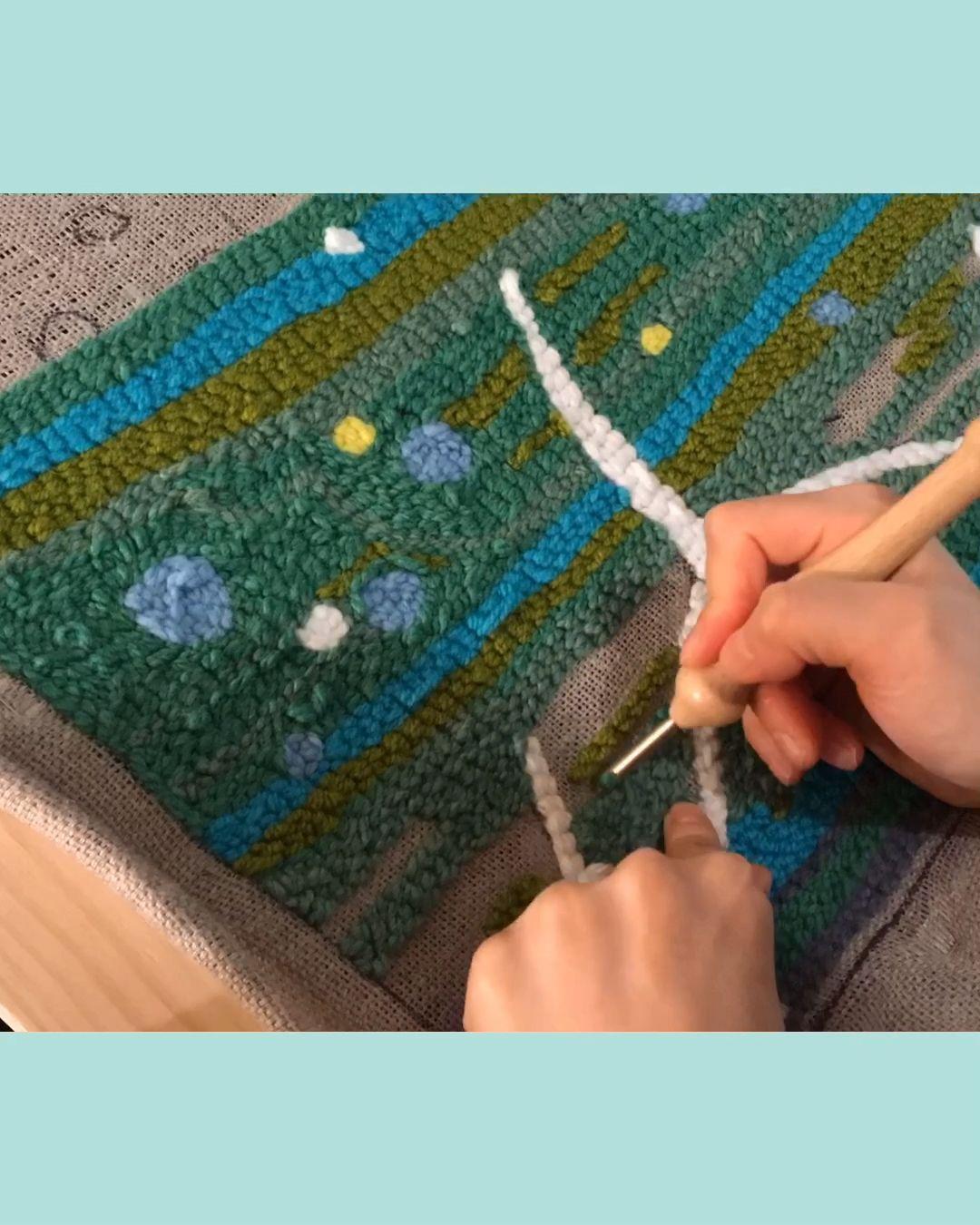 Work in Progress speedy video 🍃☁️💚 . . .  #timelapse #timelapseart #makersgonnamake #punchneedle #punchneedleembroidery #punchneedleart #punchneedlegang #punchneedlelove #rughooking #makermakes #littlecanvas #punchneedlerughooking #punchneedling #punchneedleartist #handmade #handmadecrafts #makingstuff #wip #workinprogress #studiolife #artstudio #craftstudio #yarnart #fibreart #windturbine #windturbineart #makersofinstagram #punchneedleaddict #havingfun😄
