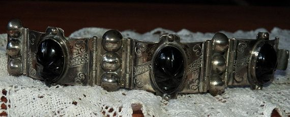 Hey, I found this really awesome Etsy listing at https://www.etsy.com/listing/83801393/big-and-bold-mexican-silver-bracelet
