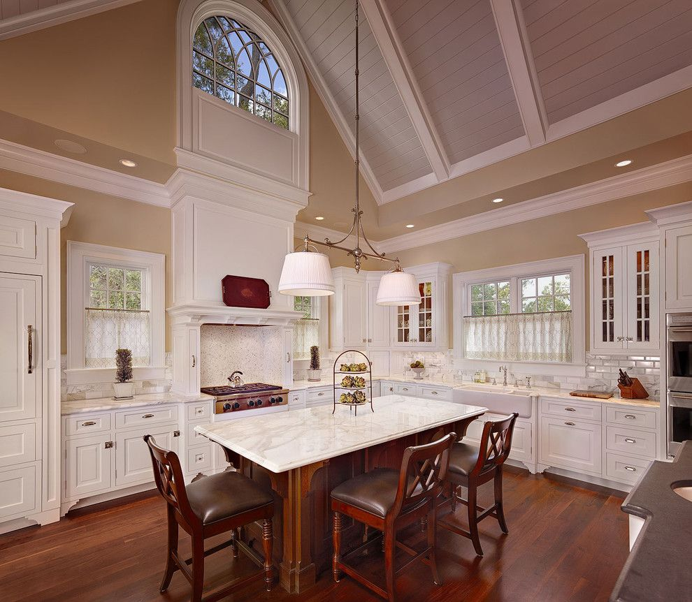 Pendant from cathedral ceiling dream kitchens pinterest