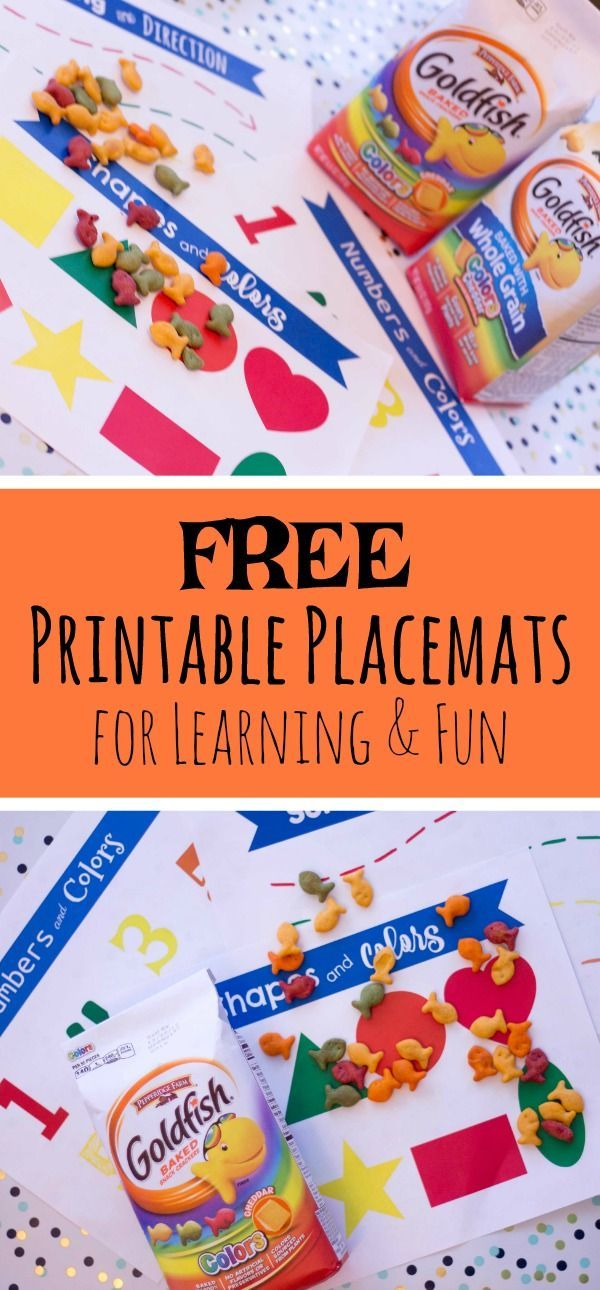 FREE Printable Learning Placemats For Snack Time Fun Kid Activities And You Can Play With Your Food Ad PlantYourVote Kids Education