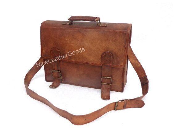 Laptop Bag Genuine Leather BagUnisex Messenger Man Business Briefcase Satchel
