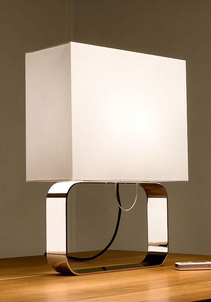 Kyoto Frame Table Lamp By Akari From The Light Yard Contemporary Designer Table Lights Modern Table Lamps Bedside Table Lamp