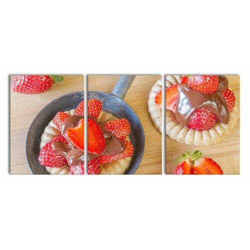 East Urban Home 3 pcs. Canvas Art Set Sweet Strawberry Tartlets | Wayfair.de