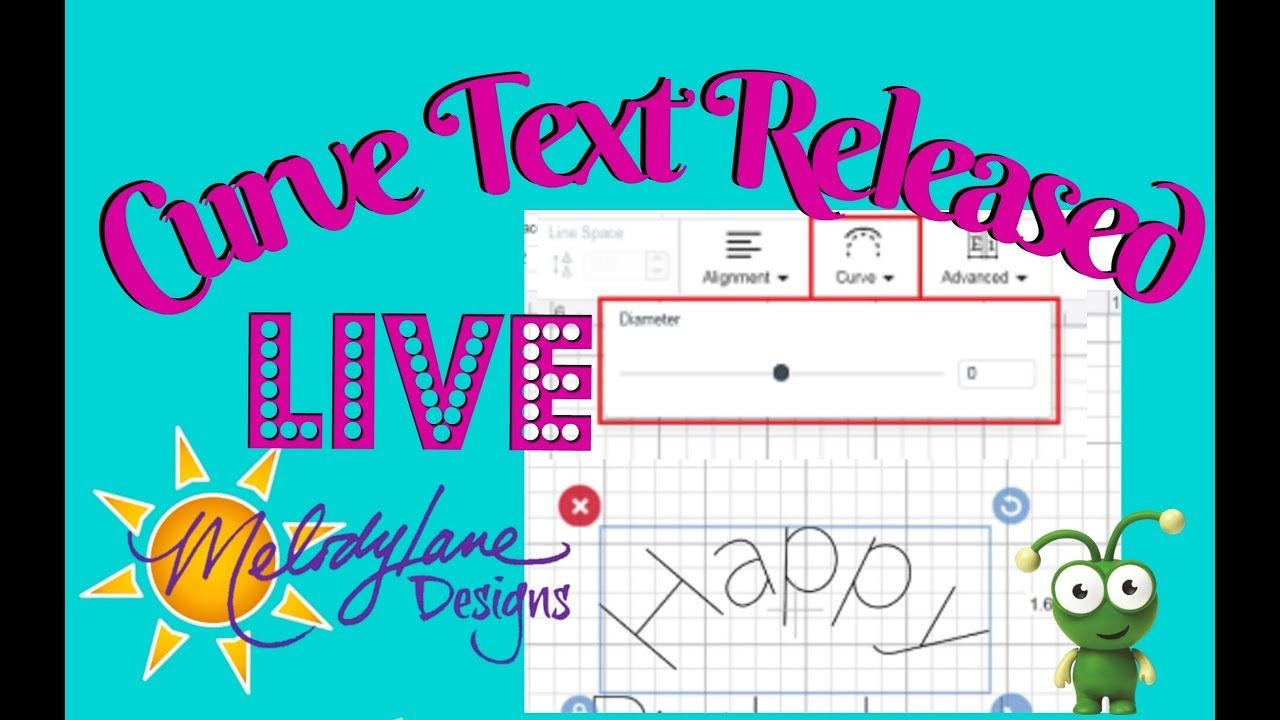 Curve text released in cricut design space new feature