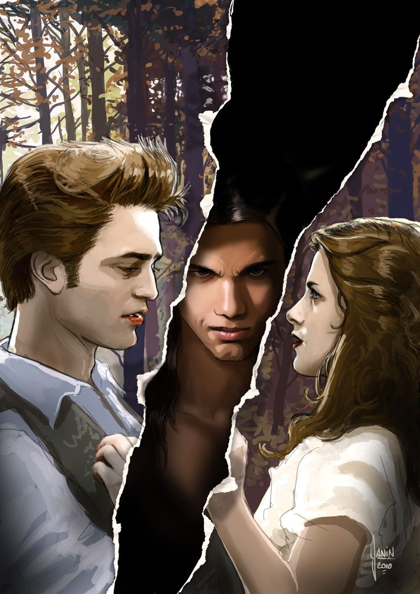 Bella Edward And Jacob By Mikel Janin Atores De Crepusculo