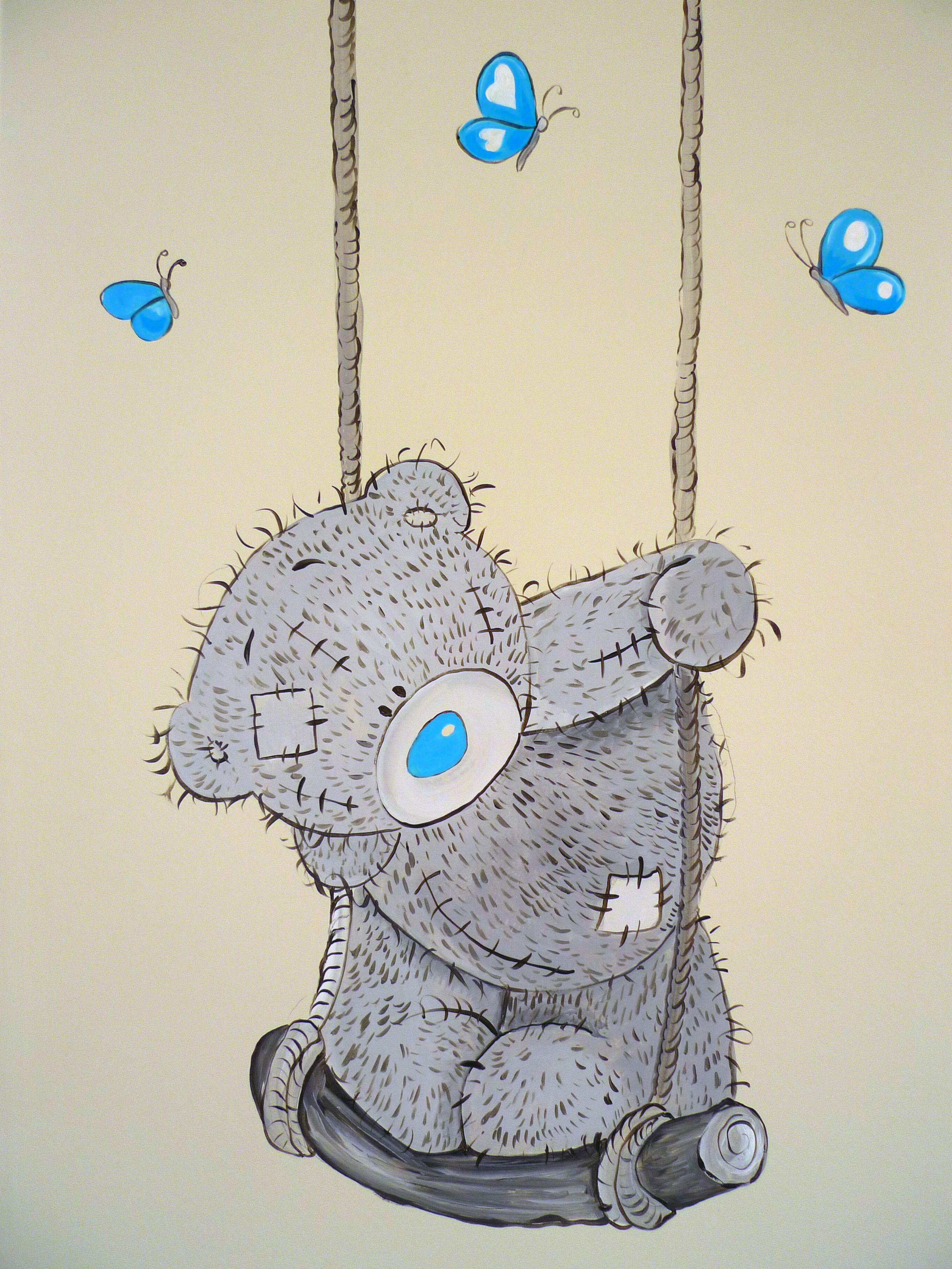 me to you muurschildering babykamer - me to you beertje, Deco ideeën