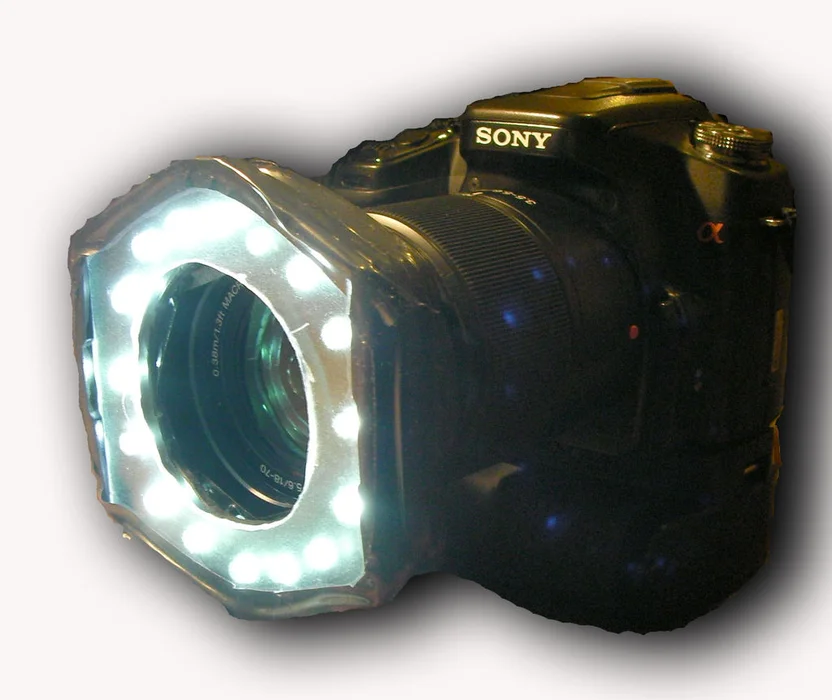 Camera Ring Flash Light For Macros Photography Equipment Camera Flashlight