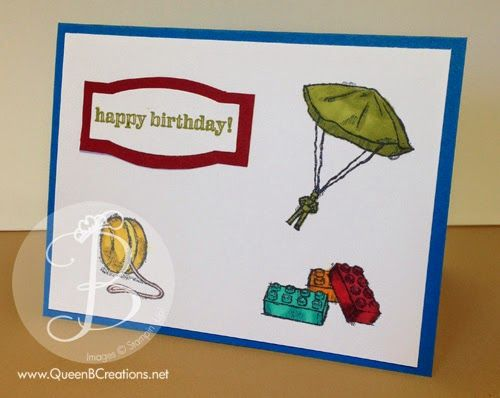 Kids Birthday Card Made With Stampin Up Boys Will Be Stamp Set Colored