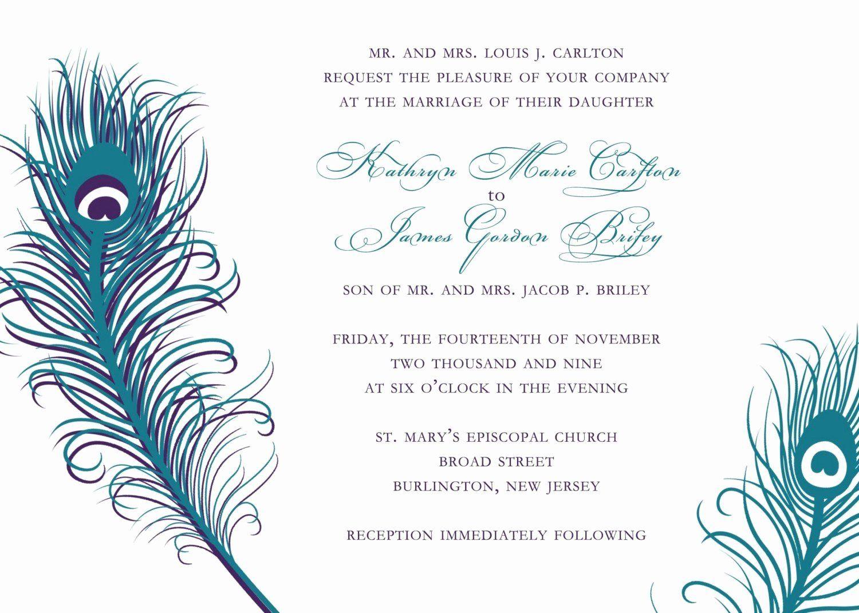Peacock Wedding Invitations Template Luxury Peacock Wedding Inv Modern Wedding Invitation Wording Peacock Wedding Invitations Unique Wedding Invitation Wording