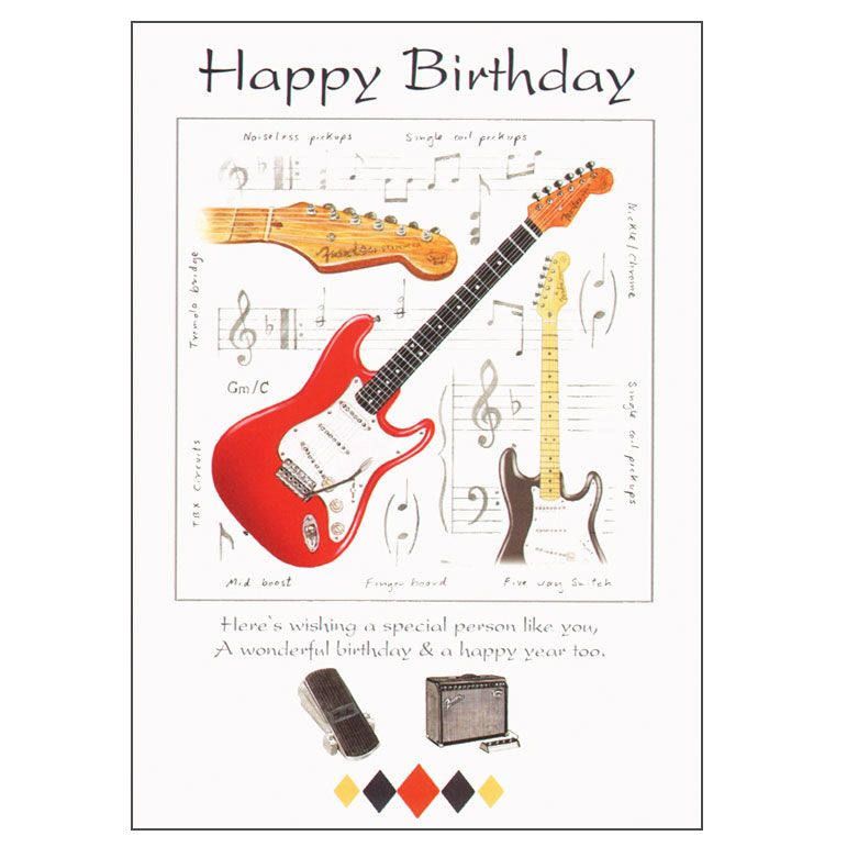 Happy Birthday Wish With A Fender Acoustic Guitar Happy Birthday