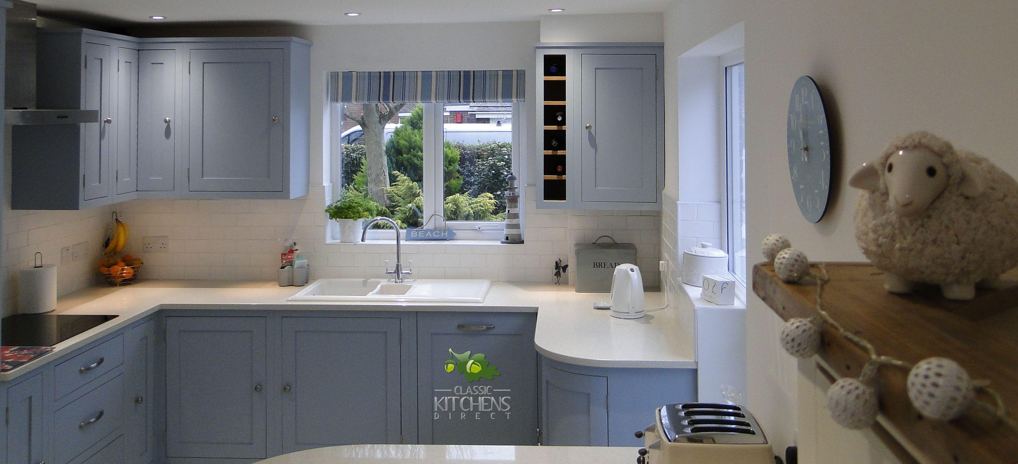 A Beautiful Handmade Kitchen In Parma Grey With Quartz Worktops Kitchens Christchurch