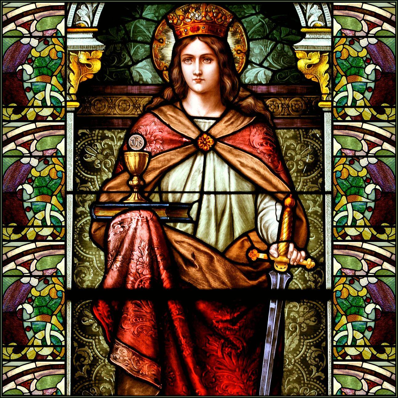 St Barbara Cristianismo Catolico Vitrais