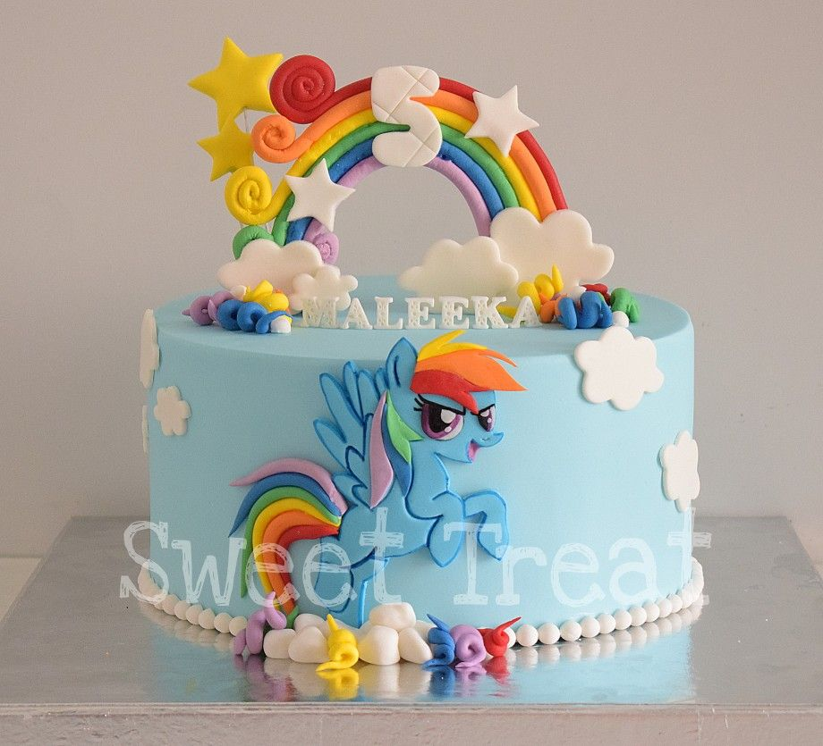 Tremendous Rainbow Dash Cake Customized Cakes Rainbowdash With Images Funny Birthday Cards Online Eattedamsfinfo