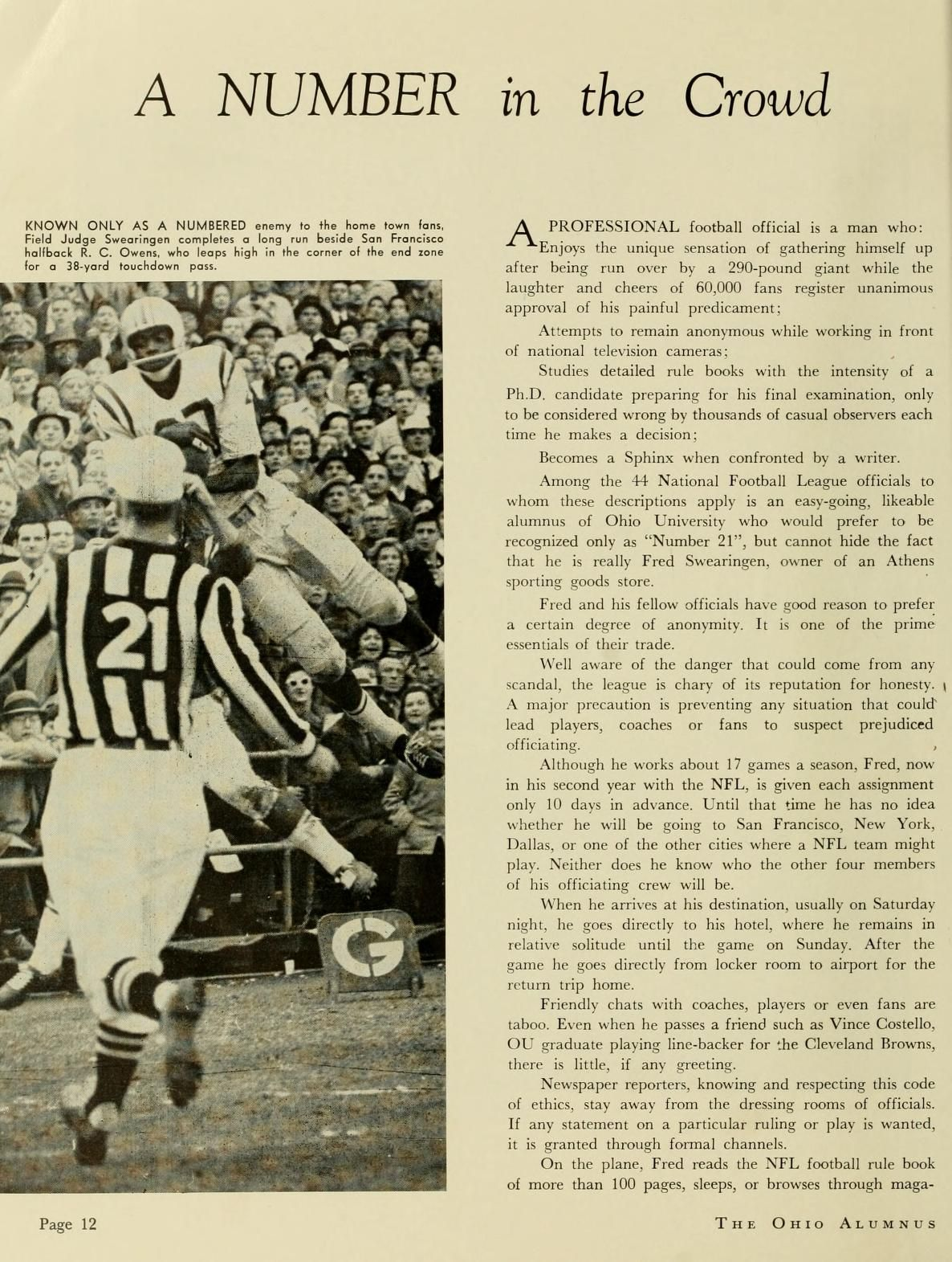 """The Ohio Alumnus, October 1961. """"A Number in the Crowd"""