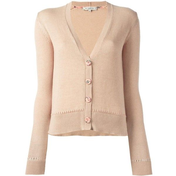 Etro button up cardigan (710 CAD) ❤ liked on Polyvore featuring tops, cardigans, pink, button down cardigan, etro, etro cardigan, rose cardigan and button up cardigan