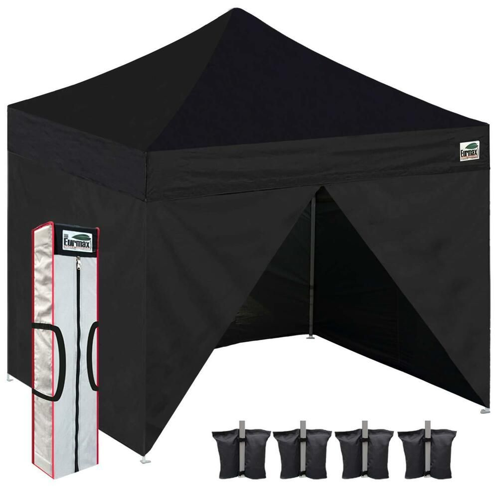 Advertisement Ebay Black Waterproof 10x10 Easy Pop Up Canopy Display Shade Gazebo Tent Side Walls Outdoor Shelters Gazebo Tent Canopy Tent Outdoor