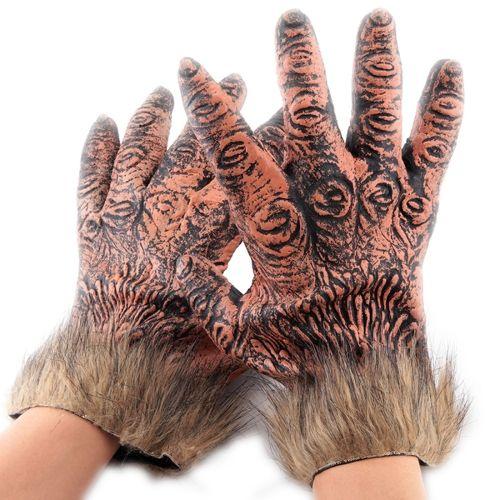 [$4.88] Halloween Cosplay Latex + Wool Horrific Wolf Gloves