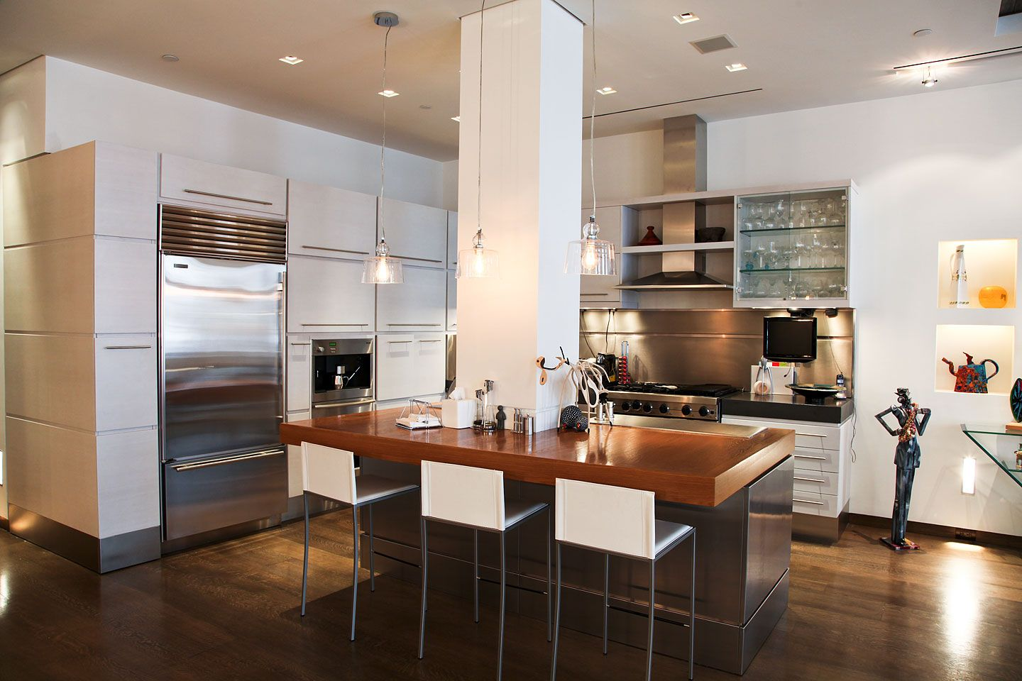 Kitchen Island With Columns interior renovation of soho loft | tagco construction, inc