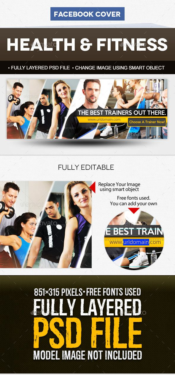 Health \ Fitness Facebook Cover Template Facebook cover template - sample facebook timeline