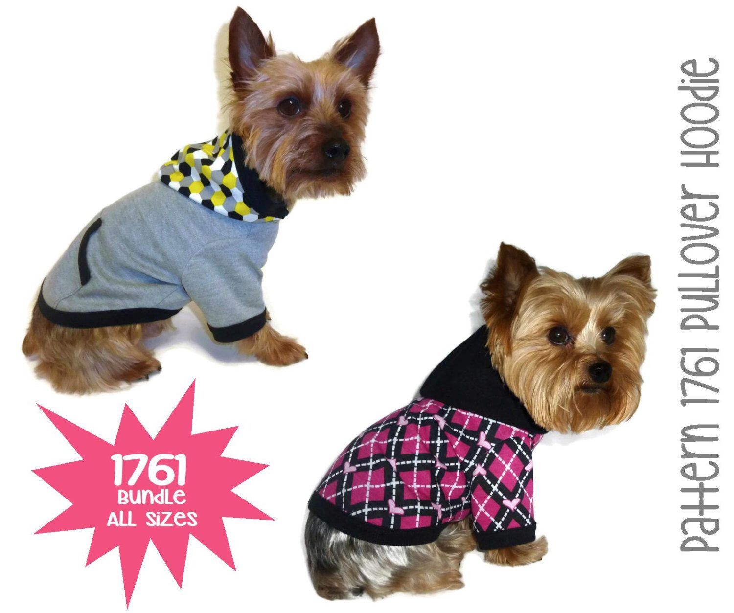 Dog hoodie pattern 1761 bundle all sizes dog clothes sewing dog hoodie pattern 1761 bundle all sizes dog clothes sewing pattern dog jacket jeuxipadfo Image collections