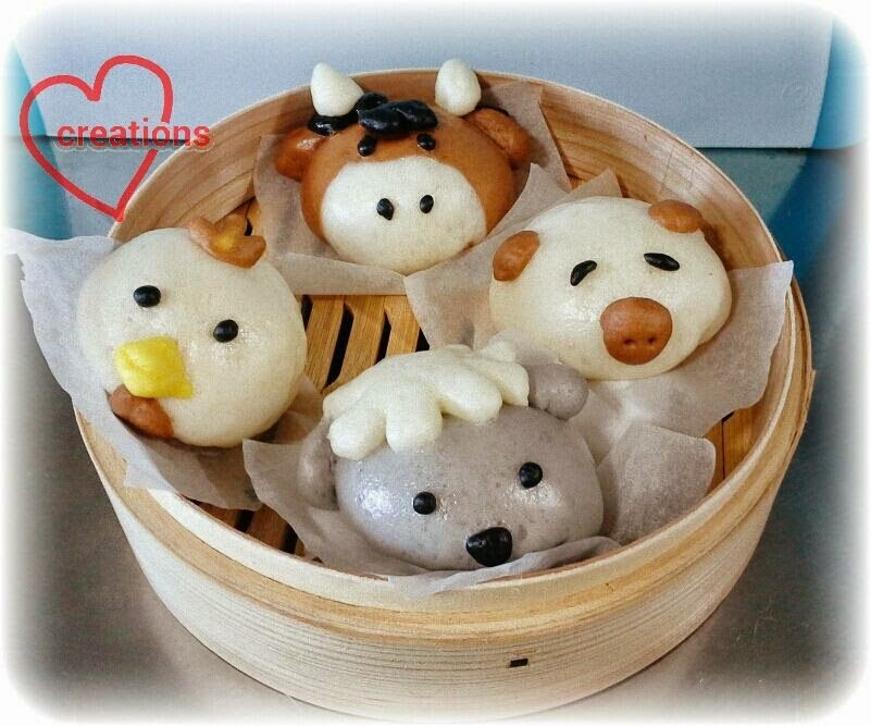 Loving Creations for You Farm Animals Liu Sha Bao (Salted Egg