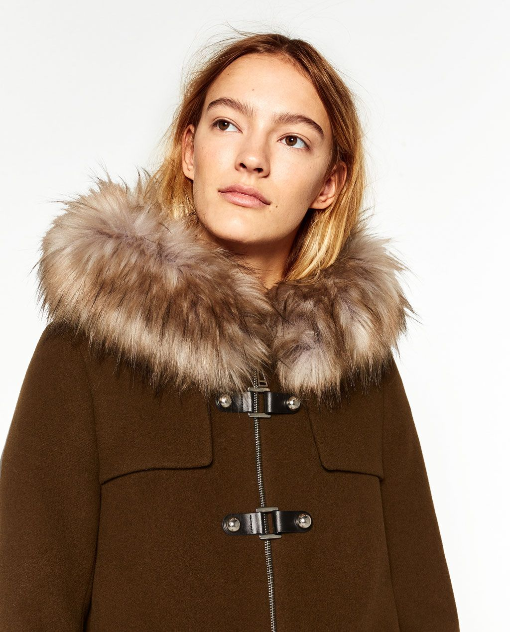 Image 2 of A-LINE DUFFLE COAT from Zara   Apparel   Pinterest ...