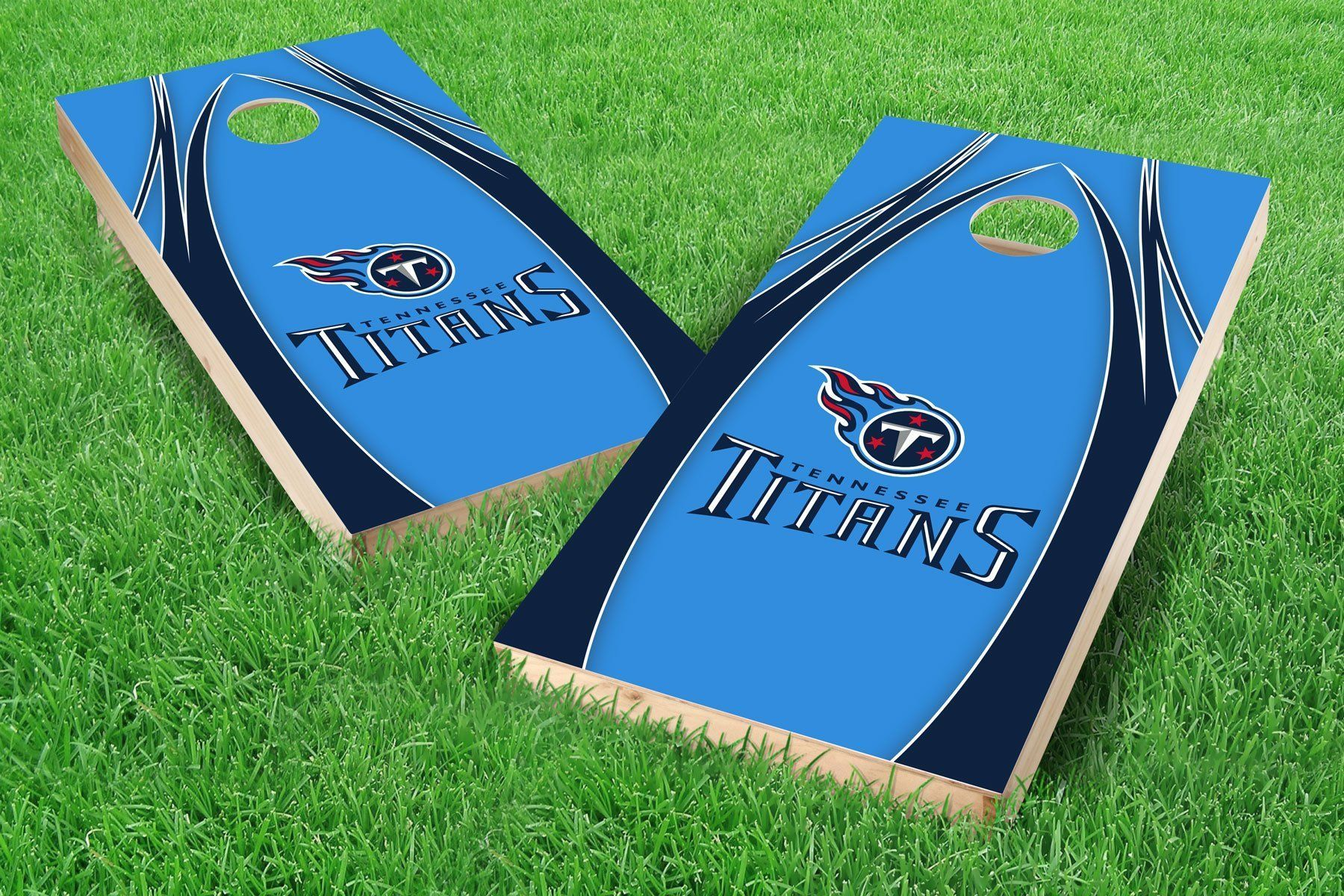Tennessee Titans State Pride Cornhole Board Set Cornhole Bag Toss Sporting Goods