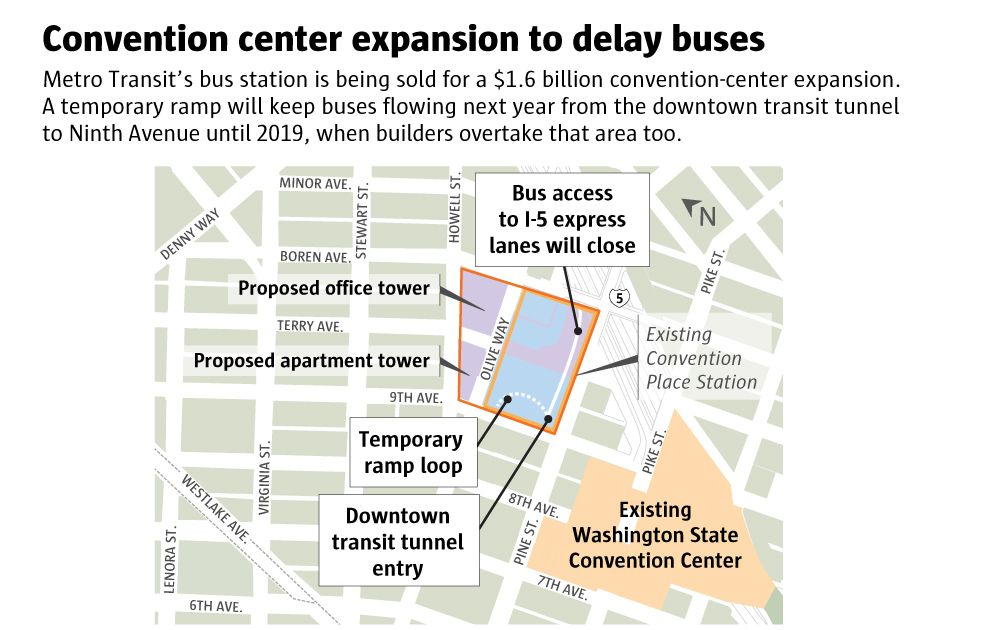 Reprieve for bus riders in Seattle's transit tunnel, but cascading projects to multiply traffic challenges