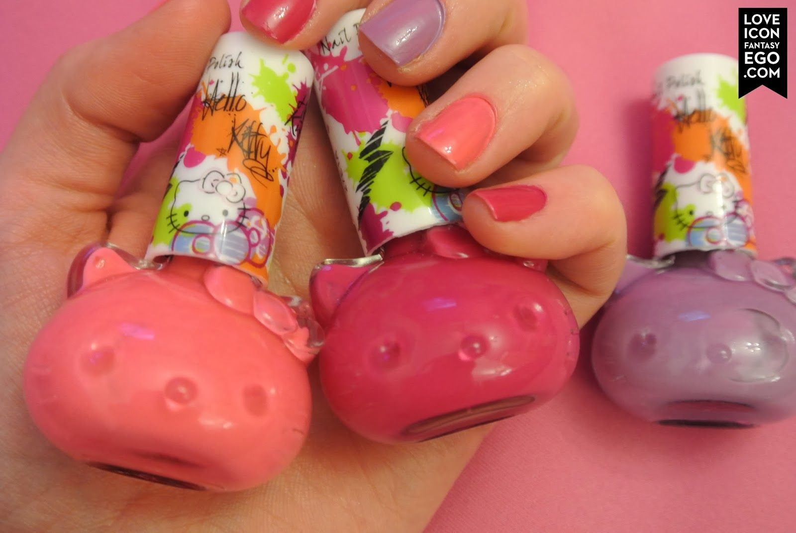 My new hello kitty nail polishes and manicure from Primark read about it on my blog