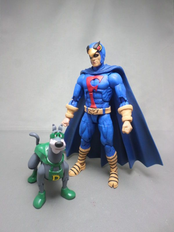 Blue Falcon Dynomutt Scooby Doo Custom Action Figure Action Figures Custom Action Figures Comic Book Superheroes
