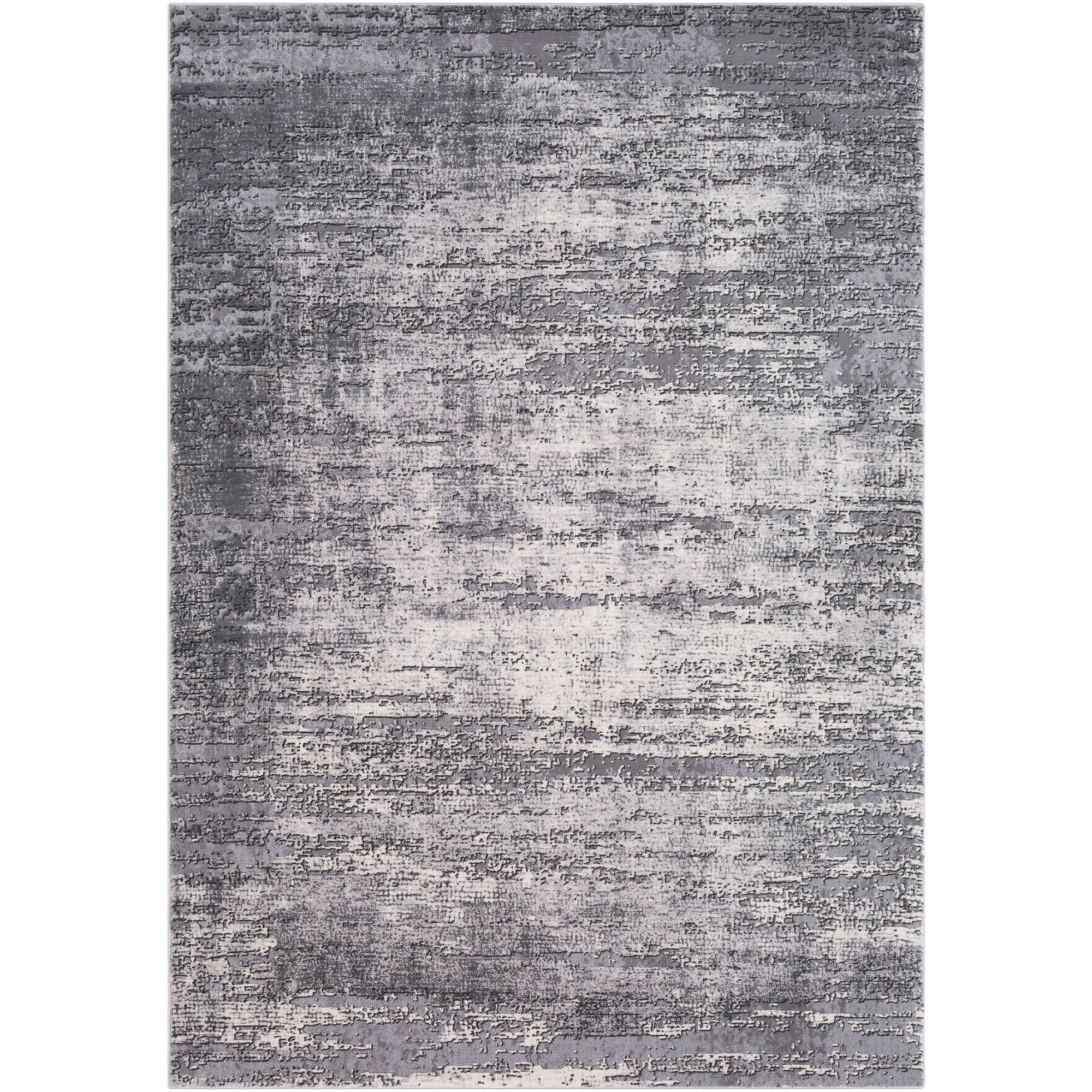 Duncan Grey Distressed Abstract Area Rug 11 10 X 15 11 10 X