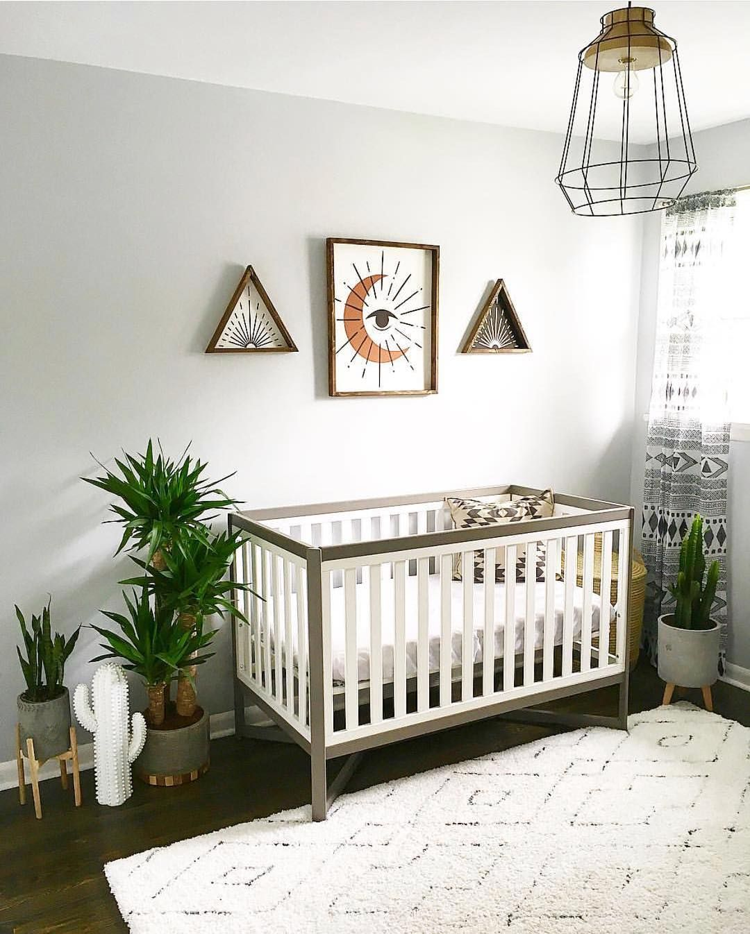Nursery Inspo Love the use of plants in this nursery. Creates such