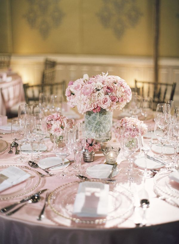Pink and white reception decor ideas pink wedding - Pink and white decorations ...