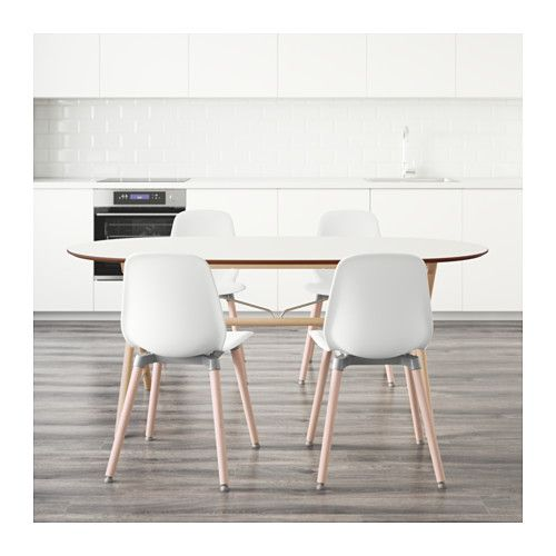 SLÄHULT/DALSHULT / LEIFARNE Mesa con 4 sillas, abedul, blanco | Ikea ...