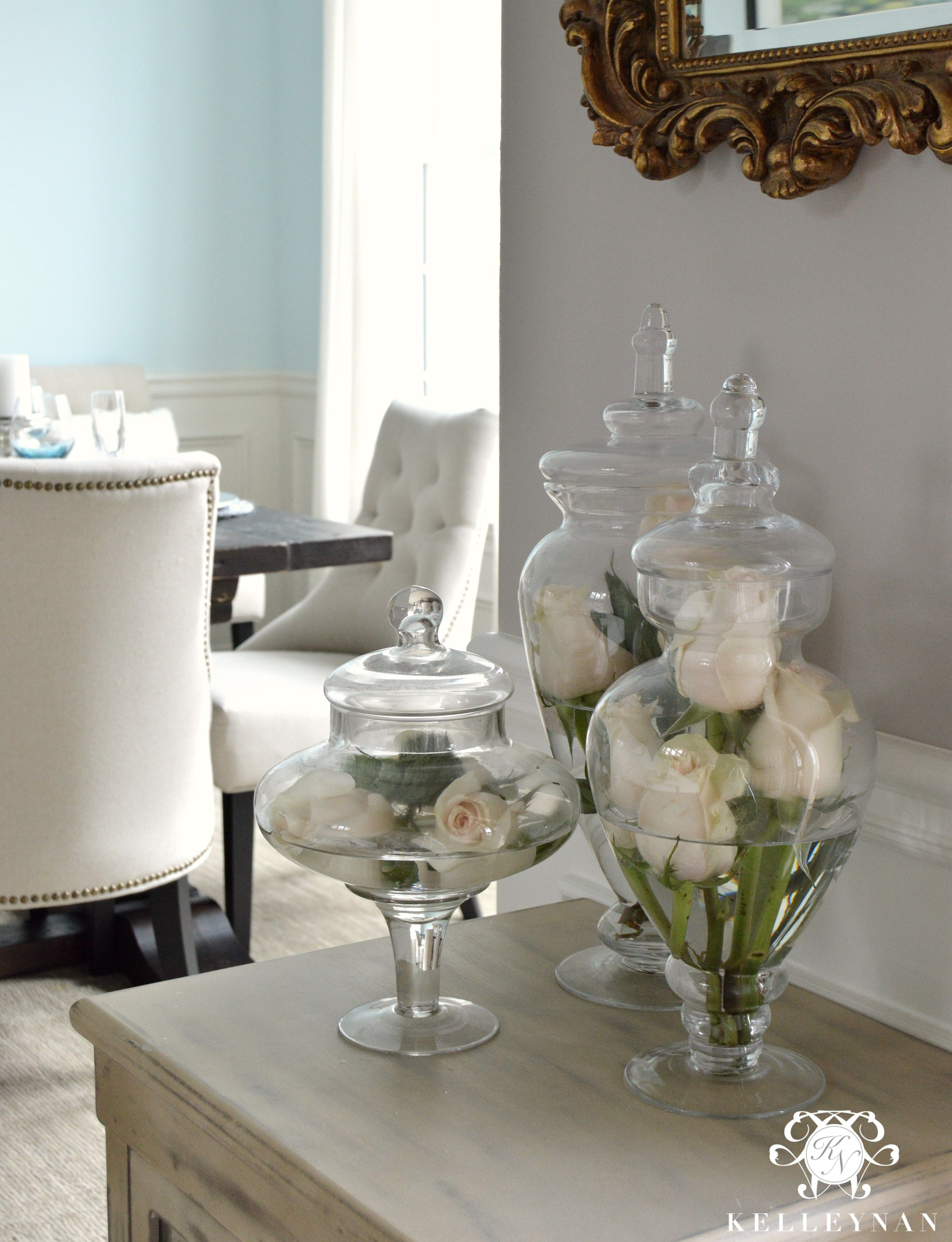 Decorative Glass Jars For Kitchen Narrow Sink Roses In Apothecary  Decor Ideas Apoth